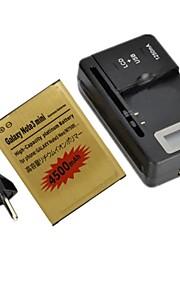 dual-cell 4500mAh li-ion batterij met LCD batterijlader en EU plug voor Samsung Galaxy Note 3 neo / note 3 mini / N750