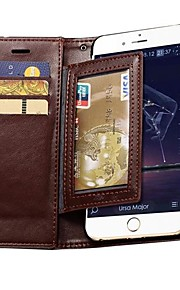 slitstarkt PU läder plånbok fallet för iphone 6 plus (blandade färger)