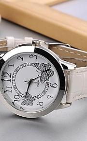 Mulheres Relógio de Moda Quartz PU Banda Borboleta Preta / Branco / Rose marca-