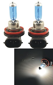 Carking™ H8 100W 5000K 1100LM Ultra Warm White Halogen Headlight Bulbs (12V / Pair)