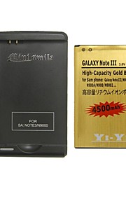 minismile ™ vervanging 4500mAh li-ion batterij met een speciale batterijlader voor Samsung Galaxy Note 3 / N9000 / n9005