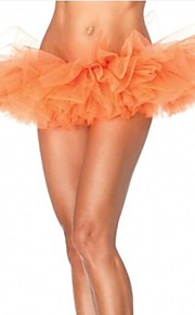 חצאית המועדון כתומה נפוחת טול טוטו נשים בורלסקה ריקוד המפלגה
