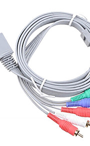 1.8M 5.904FT Wii 30Pin Male to 5RCA Male WII HD Video Audio TV Display Connection Cable for Wii