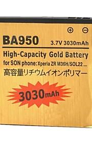 yi-yi ™ 3.7v reemplazo de la batería 3030mah para sony xperia zr / m36h / c5502 / ba950