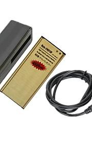 minismile ™ vervangende 3.85v 4500mAh li-ion batterij met een speciale mini batterijlader voor Samsung Galaxy Note 4 / n9100