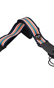 nova seqüência de cor de couro genuíno terminou correia da guitarra acústica ajustável com suporte picareta