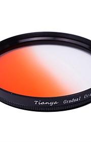 Tianya 67 milímetros circular filtro graduado laranja para Nikon D7100 D7000 18-105 18-140 canon 700d 600d 18-135