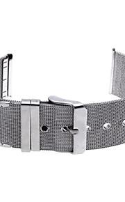 24 milímetros relógio de aço pulseira de banda alfinete de prata durável fivela ajustável