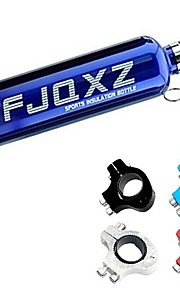 FJQXZ 750ML Stainless Steel Blue Cycling Water Bottle with Aluminium Alloy Water Bottle Adapter Substitute