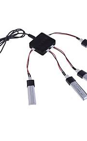 bateria neewer rc 4x 3.7v 200mAh + 1x carregador + 4x cabo de conexão para wltoys avião