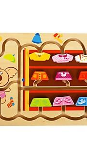 benho birketræ min lille garderobe-pige puslespil træ uddannelse legetøj