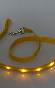 Talutushihnat - Nailon - LED valot - Vihreä / Keltainen / Oranssi - Koirat / Kissat -