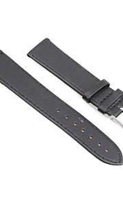 20 milímetros pu relógio de ponto de couro pulseira de banda pulseira modelo preto