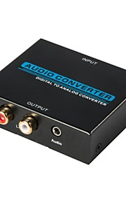 conversor digital de áudio conversor analógico, conversor HDMI, entrada toslink coaxial, áudio l / r saída