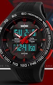 relógio de design desportivo dupla fusos horários elástico pulso dos homens (cores sortidas)