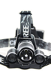 Hovedlygter LED 3 Tilstand 240-350 Lumens Vanntett / Genopladelig Andre / Cree T6 18650Camping/Vandring/Grotte Udforskning / Cykling /