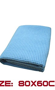 "The Best Water Magnet Microfiber Waffle Weave Drying Towel 23.6""X 31.5"" Blue"