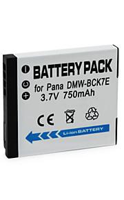 DMW-BCK7E - Li-ion - Batterij - voor for Panasonic FH2 FH5 FH25 FH27 S1 S3 FP5 DMC-FS37, DMCFS37, FS37 - 3.7V - ( V ) - 750mAh - ( mAh )