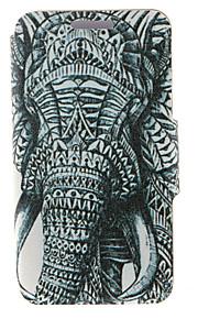 kinston® côté gauche du motif d'éléphant en cuir PU couverture complète du corps avec support pour HTC Desire yeux / M910