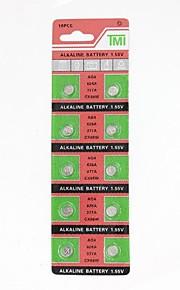 AG4 / 377A / 626A / cx66w 1.55V relógio alcalina 10pcs bateria