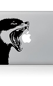 de wolf ontwerp decoratieve huid sticker voor macbook air / pro / pro met retina-display