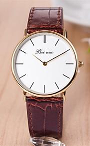 Mulheres Relógio Elegante Quartz PU Banda Relógio de Pulso Preta / Marrom