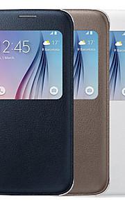 Samsung Samsung Galaxy S6 - Custodie integrali/Auto sospensione/riattivazione - Tinta unita - Cellulari Samsung ( Nero/Bianco/Rosa/Oro ,