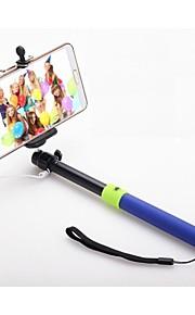 senza bluetooth app scatto remoto Selfie estensibile monopiede bastone tenuto in mano per il telefono intelligente (colori assortiti)