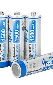 Ni-MH - Aa - Batterij - 1500 - ( mAh ) - 4 - pcs