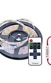 5 M 600 3528 SMD Warm White/Hvid/Rød/Gul/Blå/Grøn Kuttbar/Fjernkontroll/Mulighet for demping 50 W Fleksible LED-lysstriper AC100-240 V