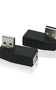 90 graders vinkel USB 2.0 A hane till hona adapter connecter omvandlare