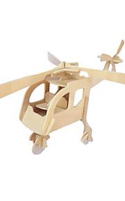 DIY håndværk træ helikopter tredimensionale puslespil