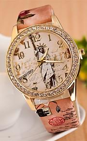 relógio de forma de diamante número de quartzo colar analógica das mulheres (cores sortidas)