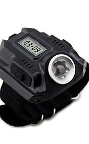 Wrist Type Light LED Flashlight  USB Charging  Time display   WL1001