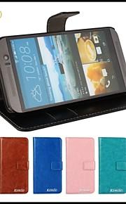 HTC 하나 M9에 대한 kemile 고급 사진 프레임 PU 가죽 케이스 지갑 휴대폰 파우치 플립 커버 (모듬 색상)