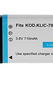 710mAh camera accu voor Kodak KLIC-7000
