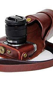 dengpin pu óleo da pele de couro tampa da câmera destacável saco caso para Fujifilm X-a2 a1 x-x-m1 (cores sortidas)