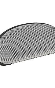 beskyttende hårde lynlås taske til briller - sølv + sort