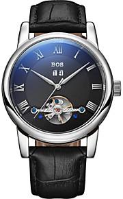 automática cintura pelica impermeável mecânica dos homens bos relógios 9005