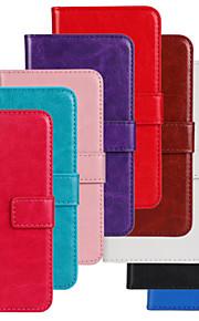 Para Funda Nokia Cartera / Soporte de Coche / con Soporte Funda Cuerpo Entero Funda Un Color Dura Cuero Sintético Nokia Nokia Lumia 520