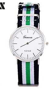moda masculina faixa pulseira de tecido de quartzo relógio analógico (cores sortidas)