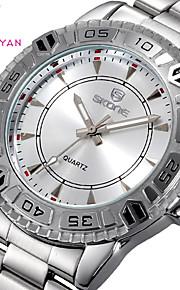 relógios dos homens garantido fiel marca Skone quartzo luminoso vestido liga relógio de pulso de moda casuais