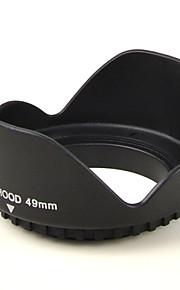 mengs® 49mm universal kronblad form modlysblænde skrue mount til Canon Nikon Sony Fuji PENTAX olympus etc DSLR-kamera