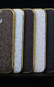 HTC 원 M8 (모듬 색상)에 대한 축구 프로필 패턴 도금 프놈펜 PC의 가죽 백 커버 케이스