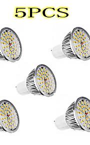 Lexing 5pcs GU10 5W 36x2835smd 350lm 2700-3200k varmt hvitt lys LED spot pære (90-240v)