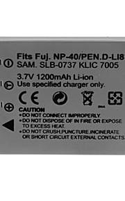 1200mAh camera batterij voor Fuji NP-40 / k7005 / dli8 / SLB-0737