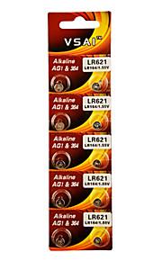 vsai AG1 / lr621 / 364 / SR621SW / 164 hoge capaciteit knop batterijen (10st)