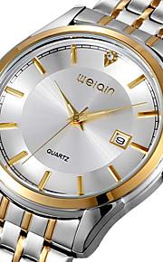 moda relógio ocasional completos homens de aço inoxidável relógio de pulso esporte assistir strass negócio de quartzo (cores sortidas)