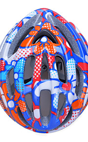 Unisex Fashion and High-Breathability PC + EPP Bicycle Helmet (20 Vents) - Red + Blue + Silver