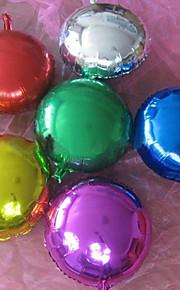 (10 peças) e 10 polegadas folha de alumínio balões de hélio rodada (cor aleatória)